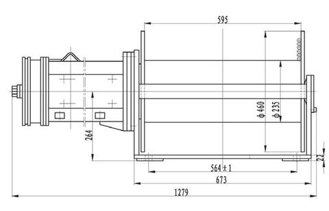 Компактная электрическая лебедка IDJ22.52.5-22-250-14 (2.2)