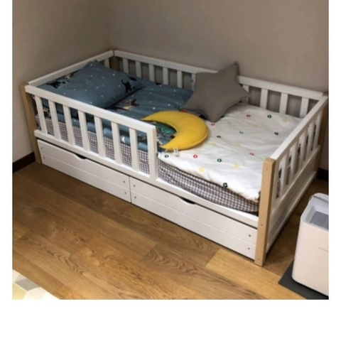 Кроватка детская Basic Бук с ящиками