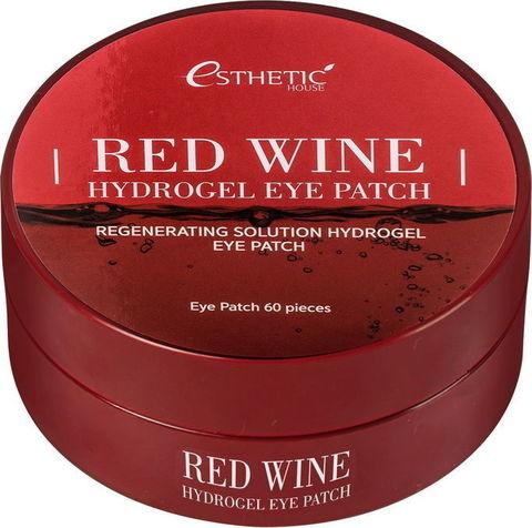 Гидрогелевые патчи для глаз КРАСНОЕ ВИНО Red Wine Hydrogel EyePatch, 60 шт ESTHETIC HOUSE