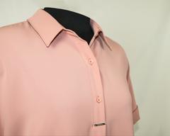 Блузка Perzoni 4654 поло однотон к/р пудра