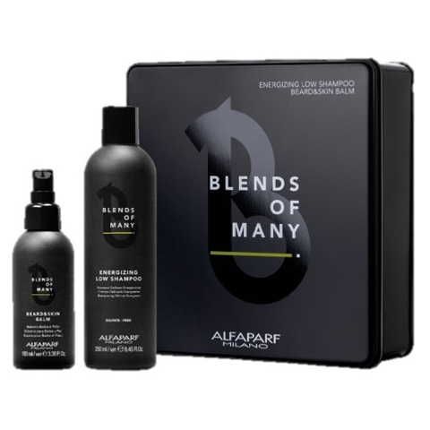 Alfaparf Milano Blends Of Many: Набор Bom Gift Box 2020 (шампунь д/волос + несмываемый бальзам д/бороды), 250мл+ 100мл