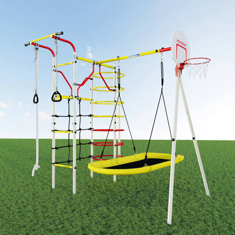 Детский спортивный комплекс для дачи ROMANA Космодром качели лодка