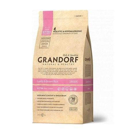 2 кг. GRANDORF Сухой низкозерновой корм для котят с ягненком и рисом Lamb&Rice Kitten