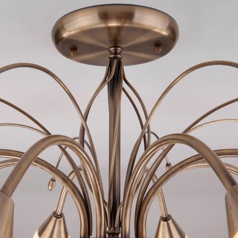 Потолочная люстра со стеклянными плафонами 30280/8 античная бронза