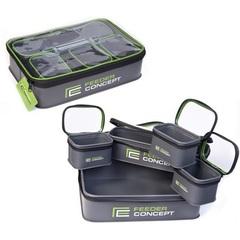 Набор емкостей с крышками для прикормки и насадки Feeder Concept EVA, 5 шт