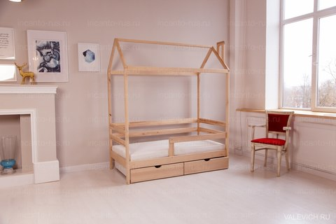 Кроватка-домик Incanto  «Dream Home» с ящиками, цвет натуральный