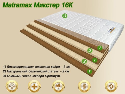 Матрас Матрамакс Микстер 16К купить недорого от Мегаполис-матрас