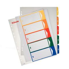 Разделитель листов Esselte А4+ пластиковый 5 листов (цифровой)