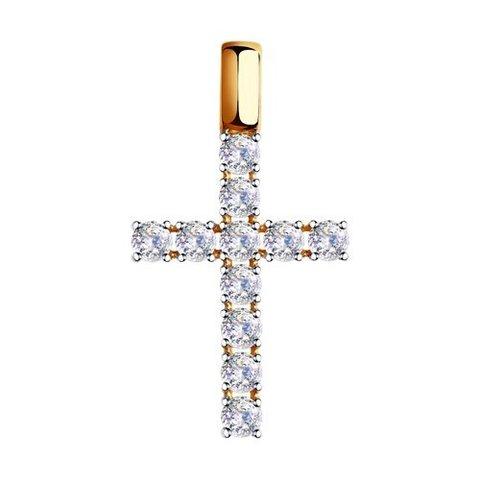 81030072 - Крест из золота со Swarovski Zirconia