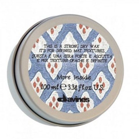 Davines More Inside: Сухой воск для текстурных матовых акцент (Strong Dry Wax)