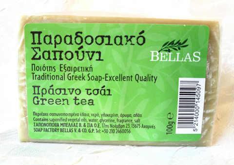 Мыло с зеленым чаем Bellas