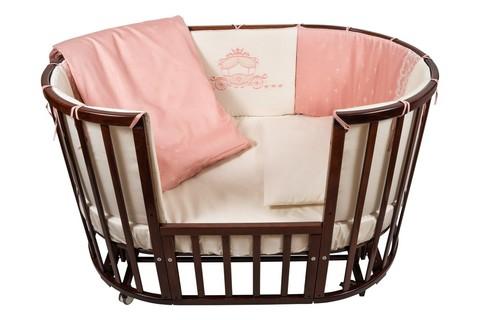 """Комплект в кроватку Nuovita """"Prestigio Pizzo"""", 6 предметов. (rosa / розовый)"""