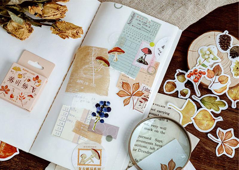 Стикер Осенние листья