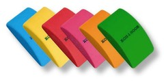 Ластик пластиковый мягкий MOUSE 6225, 38х21х12мм, ассорти