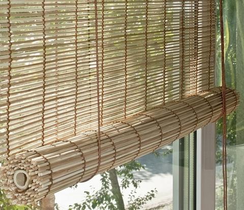 Бамбуковая рулонная штора Бунгало бежевый