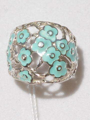 Цветущее лето  (кольцо  из серебра)