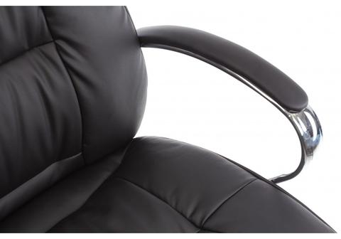 Офисное кресло для персонала и руководителя Компьютерное Evora черное 69*69*127 Хромированный металл /Черный кожзам