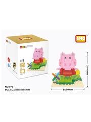 Конструктор Wisehawk & LNO Свинка Пеппа с корзинкой 264 детали NO. 072 Peppa Pig mini blocks