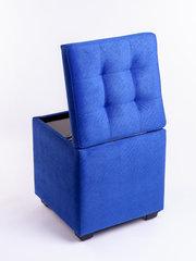 Пф-400-Я Пуфик квадратный (синий) с ящиком для хранения