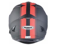 Мотошлем - PROBIKER PR2 (матовый, черно-красный)