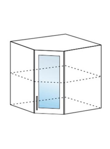 Шкаф верхний угловой со стеклом