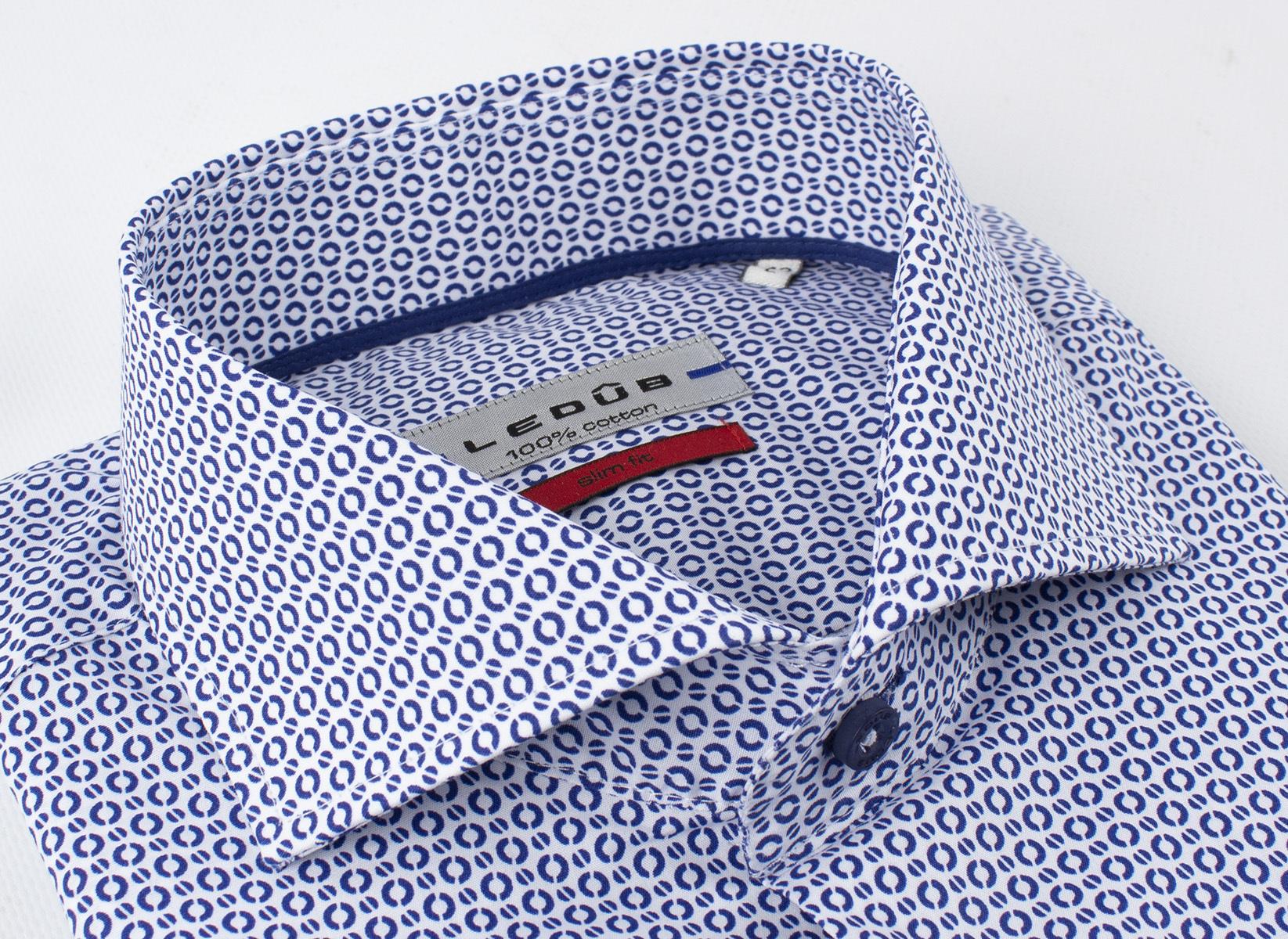 Рубашка Ledub slim fit 0136831-170-000-000-SF-Blue