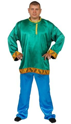 Рубаха-косоворотка зелёная