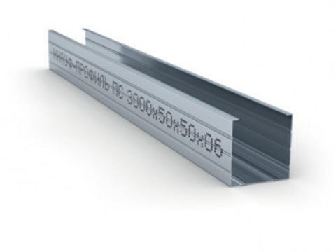 Стоечный профиль Кнауф 75х50х3000 мм 0,6 мм