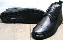 Мужские полуботинки на толстой подошве зимние Rifellini Rovigo C8208 Black
