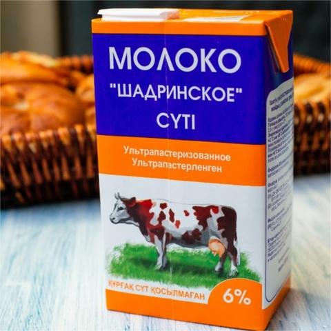 Молоко ШАДРИНСКОЕ 6% 1 л т/п Юнимилк РОССИЯ