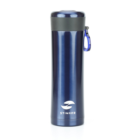 Термокружка синий металлик (0,42 л) STINGER HW-420-32-2738