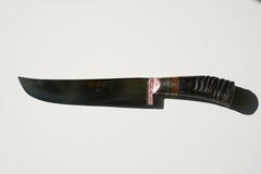Пчаки по 2500 рублей. Узбекский кухонный нож.Клинок Изогнутый. Углеродистая сталь ШХ15. Рукоять прямая или изогнутая.Рог Сайгака(косуля) Мастер Ибрагим Рахимов
