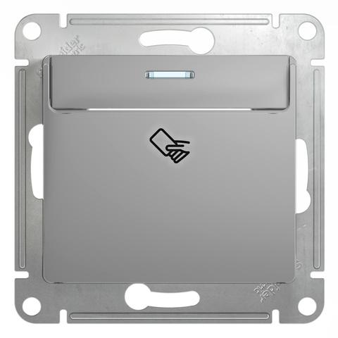 Карточный выключатель. Цвет Алюминий. Schneider Electric Glossa. GSL000369