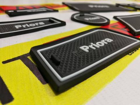 Коврики силиконовые панели приборов для а/м Лада Приора