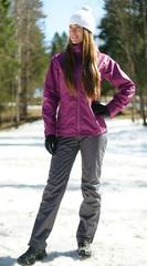 Ветрозащитный спортивный костюм Nordski Motion Iris/Gray женский