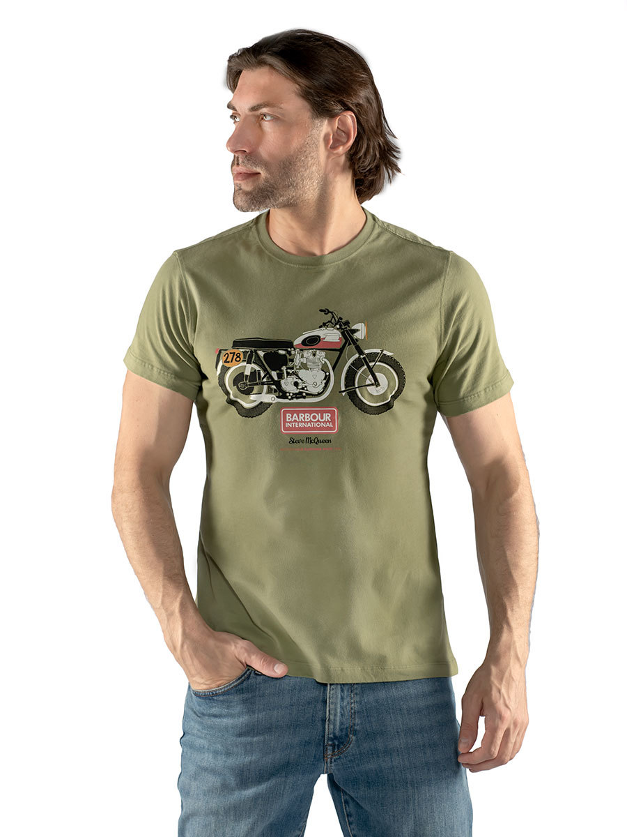 Barbour футболка B.Intl Indiana Tee MTS0808/GN15