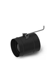 Шибер TMF ф200, 1,5мм, 08ПС, антрацит, прямой