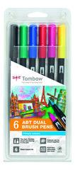 Набор маркеров Tombow ABT Dual brush pens, основные цвета, 6 цветов