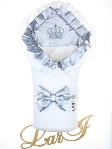 Конверт одеяло Элегантность  (белый/серый металлик)