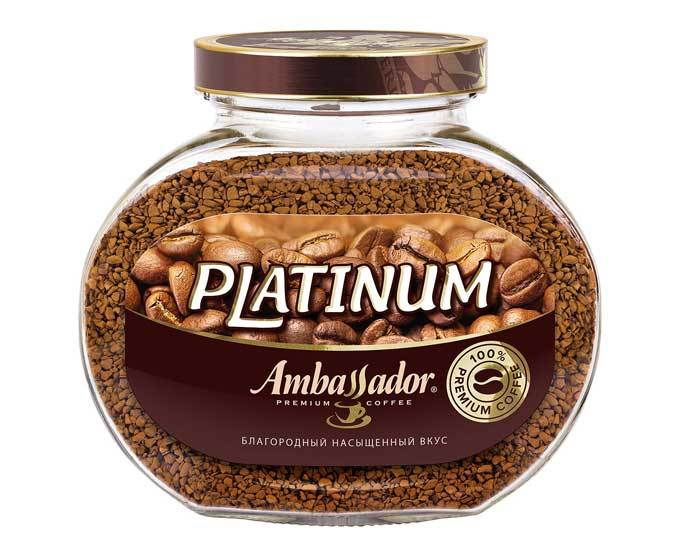 Кофе растворимый Ambassador Platinum, 190 г