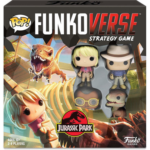 Настольная Игра Funkoverse Strategy Game: Jurassic Park 100 Base Set