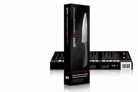Универсальный кухонный нож Samura CERAMOTITAN 125 мм, арт. SCT-0021М