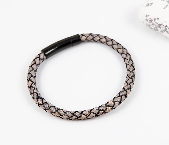 BM517-3 Мужской браслет шнур из натуральной кожи фото 02