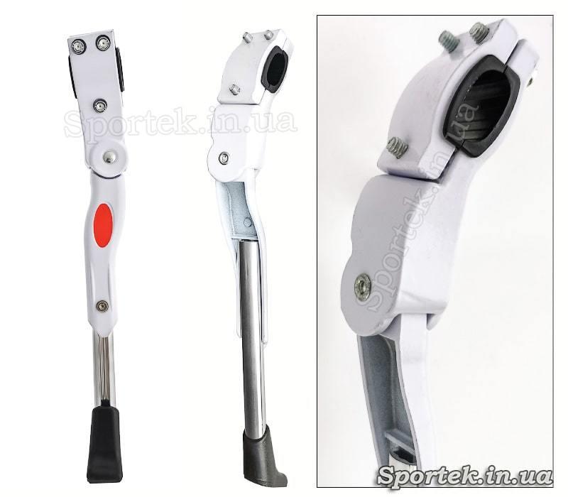 Белая телескопическая подножка Soldier на перо для колес 24-26 дюймов