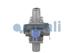 Клапан защитный четырехконтурный MAN F2000/TGA/Iveco/DAF аналог  Четырехконтурный Ман/4-ох контурный кран МАН  Производитель - COJALI   OEM - 81521516096   Wabco - 9347023000, 9347023007   SCANIA - 1935487    RVI - 5021175255    KNORR - AE4613