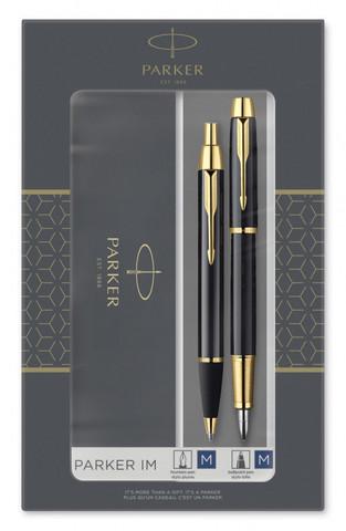 Набор подарочный Parker IM Core - Black GT, ручка перьевая+ручка шариковая