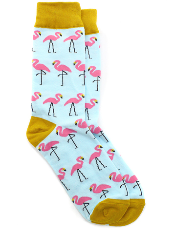 Носки р.35-40 Фламинго с жёлтыми вставками