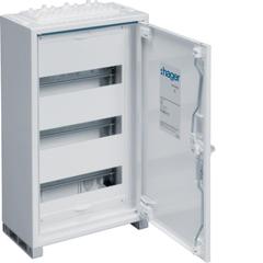 Щиток открытой установки,секционный,с оснасткой,IP44, 500x300x161мм (ВхШхГ), одна дверь,RAL9010