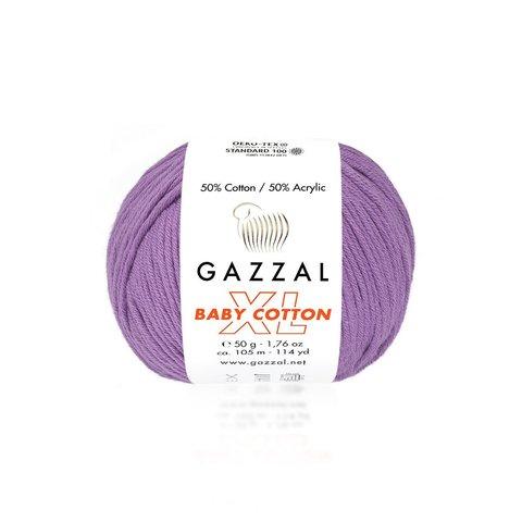Пряжа Gazzal Baby Cotton XL 3414 светло-фиолетовый