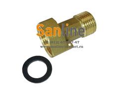 Присоединитель Sanline ДУ20 Латунь удлиненный Арт.51620